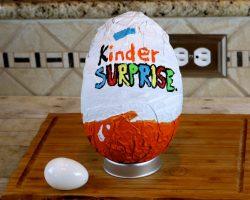 How to Make a Giant Kinder Surprise Egg