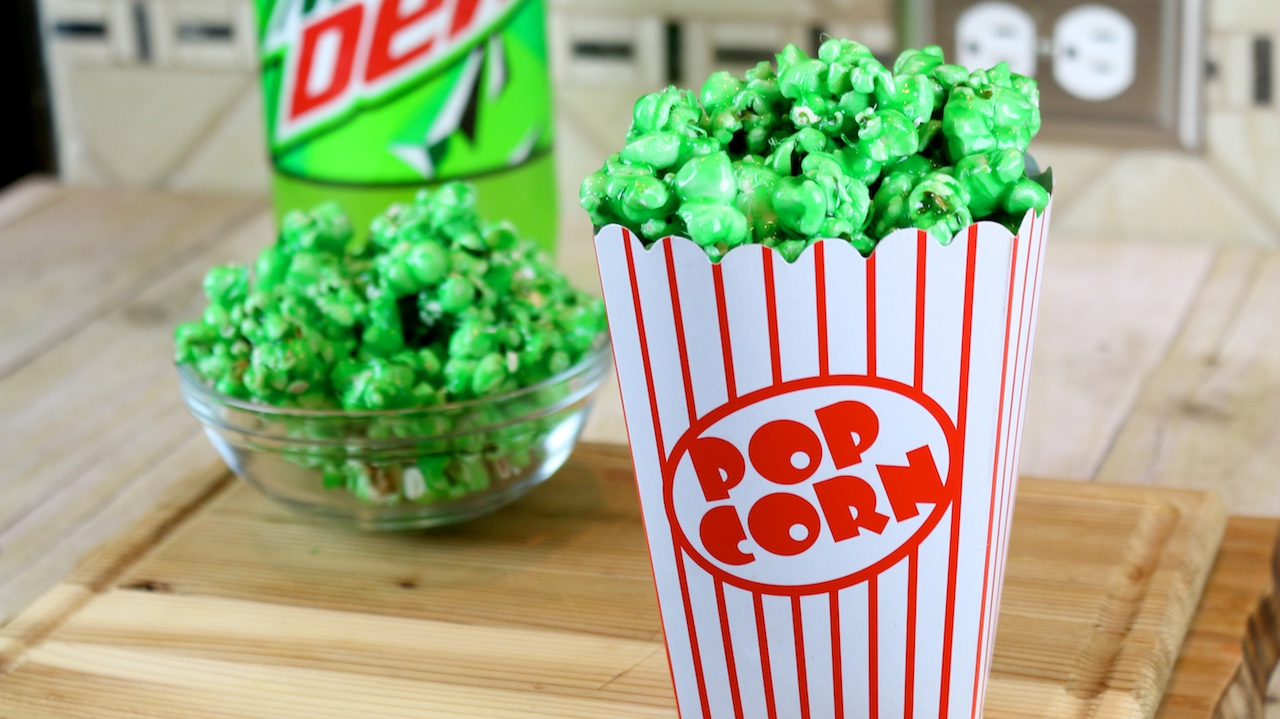 How To Make Mountain Dew Flavored Candy Popcorn Funfoods